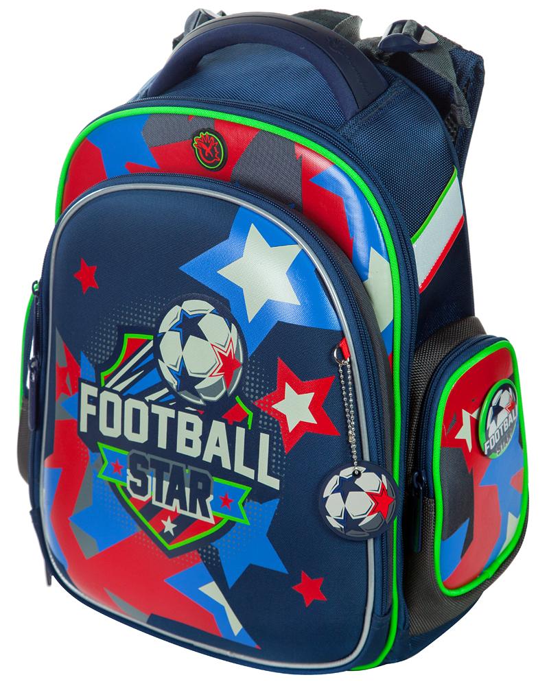 Школьный рюкзак Hummingbird TK49 Звезда футбола - официальный с мешком для обуви, - фото 1