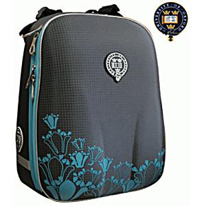 Школьный рюкзак OXFORD 1008-OX-50 Оксфорд Короны сер/бирюза