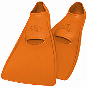 Ласты SwimSafe детские закрытая пятка для бассейна резиновые размер – 22 оранжевые СВИМСЕЙФ Германия